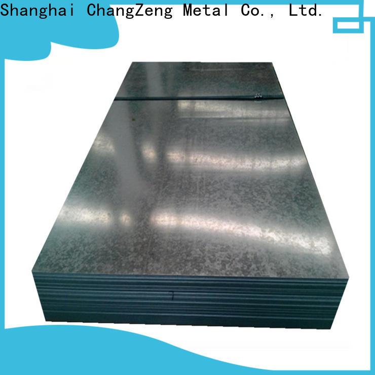 ChangZeng galvanized 24 gauge steel sheet price manufacturers for industrial