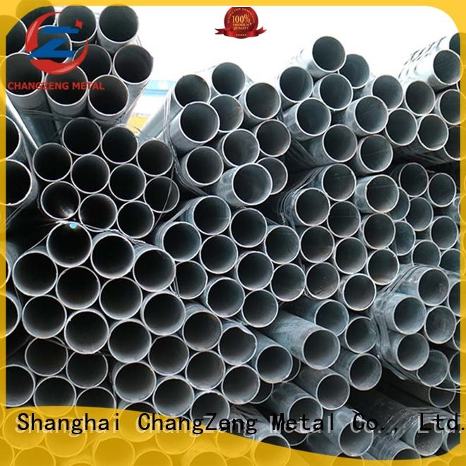 ChangZeng round black steel pipe from China for construct